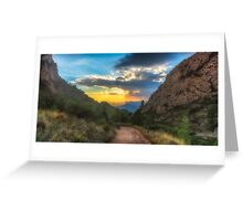 The path and the sunbeams Greeting Card