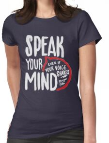 Speak Your Mind - Planned Parenthood Womens Fitted T-Shirt