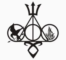 symbol harry potter and Catching fire Kids Tee