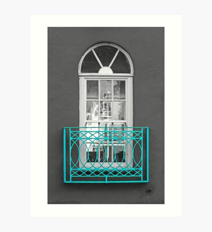 Turquoise Balcony Selective Art Print