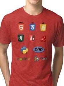 web developer programming language set v2 Tri-blend T-Shirt