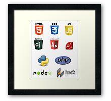 web developer programming language set v2 Framed Print