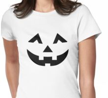 Scary pumpkin face Womens Fitted T-Shirt