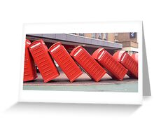 Leaning Telephone Boxes, Kingston Greeting Card