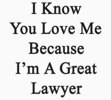 I Know You Love Me Because I'm A Great Lawyer  by supernova23