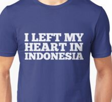 I Left My Heart In Indonesia Love Native Homesick T-Shirt Unisex T-Shirt