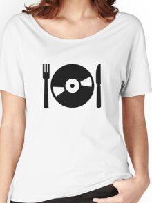 Vinyl DJ menu Women's Relaxed Fit T-Shirt