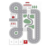 Play Cars on Daddy's Back - Gift for Dad and Kids Funny Car Play Mat Photographic Print
