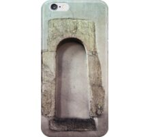 Saxon shaped wall niche Priory church of St Mary Deerhurst England 198405140067  iPhone Case/Skin