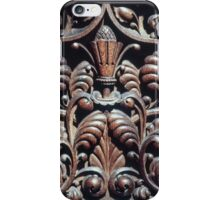 Wood Carving Priory church of St Mary Deerhurst England 198405140072 iPhone Case/Skin