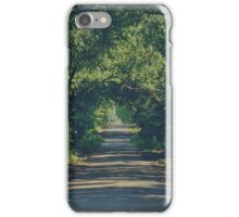 shady country road iPhone Case/Skin