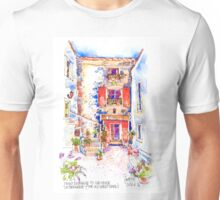 Entrance to La Bergerie, Trausse, France Unisex T-Shirt