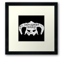 Dovahkiin is Coming Framed Print