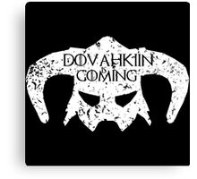 Dovahkiin is Coming Canvas Print