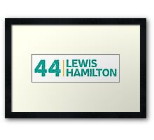 Mercedes F1 Driver: Lewis Hamilton #44 Grungy  Framed Print
