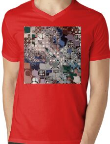 Colorful Chaotic Abstract Mens V-Neck T-Shirt