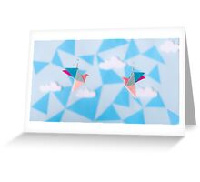 Birds flying high Greeting Card