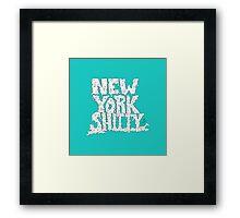 New York Shitty Framed Print