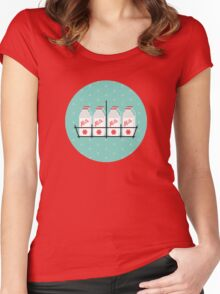 8 Maids a Milking Women's Fitted Scoop T-Shirt