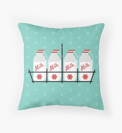 8 Maids a Milking Throw Pillow