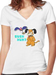 Duck Hunt Women's Fitted V-Neck T-Shirt