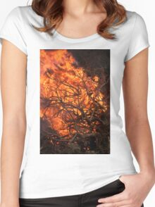 National Trust Bonfire Women's Fitted Scoop T-Shirt