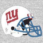 NY Giants Helmet Drips by Ryanopena