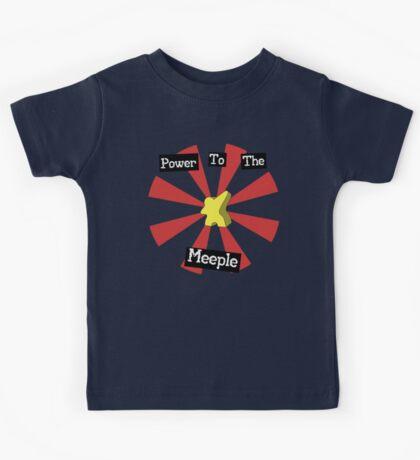 Power To The Meeple Kids Tee