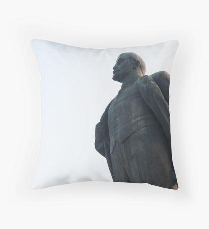 Statue of Lenin Hanoi Throw Pillow