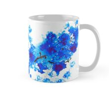 Cherry Blossoms in Blue Mug