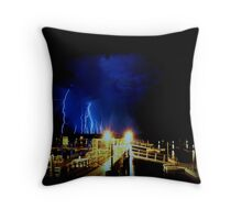 Lighting Storm Throw Pillow