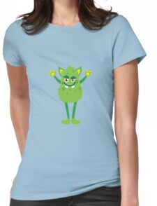 Monster scary face Womens Fitted T-Shirt