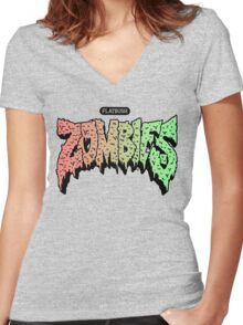Flatbush Zombies hoodie Women's Fitted V-Neck T-Shirt