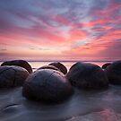 Moeraki Boulders by Nick Skinner