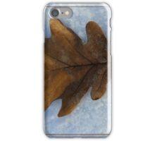 leaf on snow iPhone Case/Skin