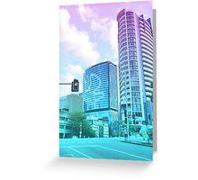 Pastel Brisbane City - Brisbane River Tower Greeting Card