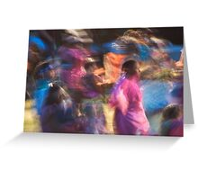 Impressionistic Pow Wow 2 Greeting Card