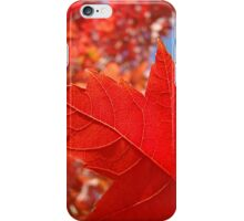 RED Fall Tree LEAVES Art PRINTS Canvas Autumn iPhone Case/Skin