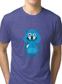 Monster scary face Tri-blend T-Shirt