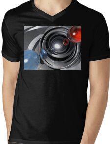 Abstract Camera Lens Mens V-Neck T-Shirt
