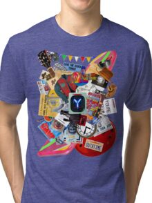 Back to the Future Trilogy MIX (saturated version) Tri-blend T-Shirt