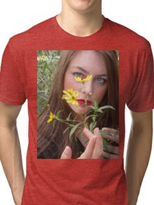Flower beauty Tri-blend T-Shirt