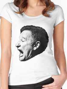 Robin Williams funny scream Women's Fitted Scoop T-Shirt