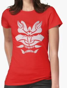 White Oni Womens Fitted T-Shirt