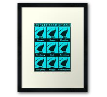Expressions of Shark Framed Print