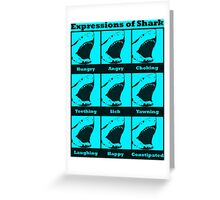 Expressions of Shark Greeting Card