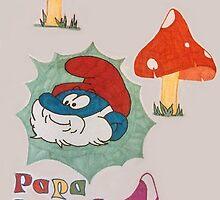 Papa Smurf by gigglycricket