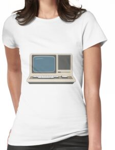 Retro Vintage Computer 80s Electronics Womens Fitted T-Shirt