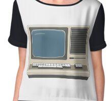Retro Vintage Computer 80s Electronics Chiffon Top