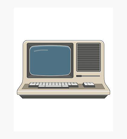 Retro Vintage Computer 80s Electronics Photographic Print